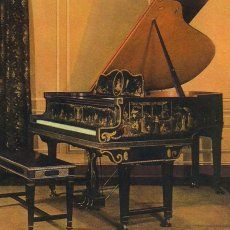 A 1926 Steinway Model O Grand Piano Hand Painted With