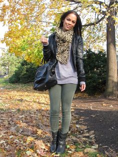 green, leopard, leather