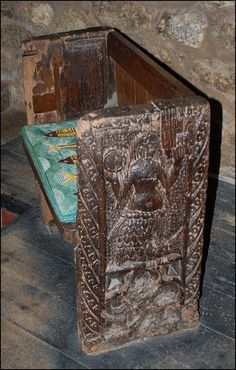 Medieval Mermaid Chair, St Senara's Church, Zennor When Cornish mystery plays were performed in the Middle Ages the mermaid was used as a symbol to explain the two natures of Christ - God and Man. Several Cornish churches have mermaid frescoes, but this is the only carving. Photo byBaz Richardson