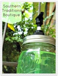 Southern Traditions Boutique: Ball Jar Soap Dispenser.....Dollar Craft