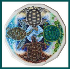 Turtle Island - Windwolf Studio :: Creativity at the speed of flight... Visionary symbolic artwork, prints, feather and drum paintings and t-shirts availabl...