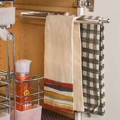 Kitchen Storage & Accessories Towel Rack Pull-Out, 2 Bar, Extendable - order from the Häfele America Shop. Metal Storage Racks, Towel, Kitchen Organization, Hafele, Towel Rack, Kitchen Towel Rail, Towel Rail, Rack, Kitchen Storage