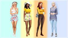 🌸☀️🍁☃️ Sim download [xx] CC list and CAS video can be found here [xx] Maxis, Sims 4 Cc Folder, Sims 4 Dresses, Play Sims, Sims 4 Mm Cc, Sims 4 Cas, Cartoon Faces, Sims 4 Clothing, The Sims4