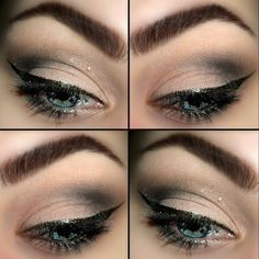 soft eyes and bold liner