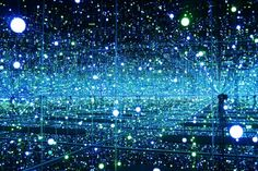 An Infinity Mirror Room by Yayoi Kusama--Retrospective at the Whitney Museum. The infinity mirror room is a true JOY to experience--excited. Yayoi Kusama, Infinity Mirror Room, Infinity Room, Georges Pompidou, Pompidou Paris, Light Installation, Art Installations, Japanese Artists, Light Art