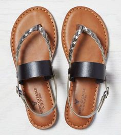 Braided Wide Strap Sandal