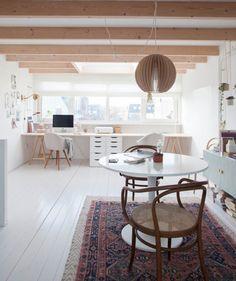 Estudio de una diseñadora de interiores