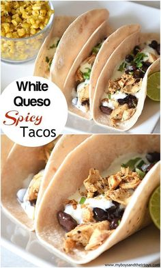 Want to spice up dinner tonight? Try this delicious White Queso Spicy Tacos recipe!