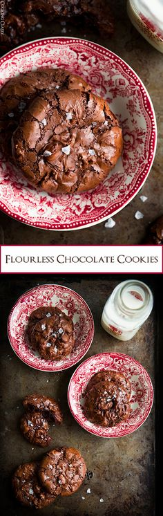 Flourless Chocolate Cookies - these cookies are pure decadence! So good!