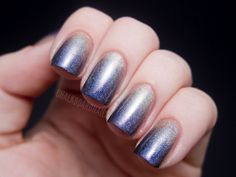 Chalkboard Nails: Cirque Colors Holo Gradient