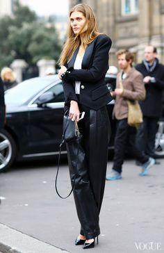 Balmain jacket and pants, Céline bag