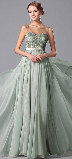 Stunning Beaded Embroidery Evening Dress
