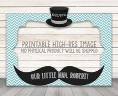 PRINTABLE Little Man Baby Shower or birthday party by HappyBarn