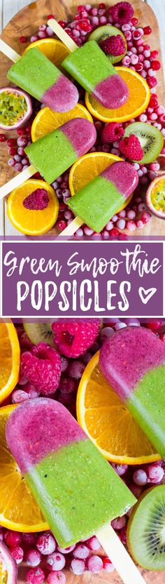 These vegan tropical green smoothie popsicles are the perfect treat for hot summer days - They are sweet, healthy, and packed with nutrients. Even kids love them!