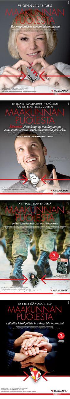 """MAINONNAN SUUNNITTELU; Sanomalehti Karjalainen, """"Maakunnan puolesta"""" -kampanja"""