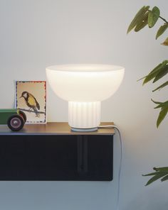 Standard Lamp by Sulvain Willenz for Menu, available at Morlen Sinoway Chicago - Standard Lamps, White Opal, Industrial Lighting, Pendant Lamp, Floating Nightstand, House Design, Lights, Glass, Furniture