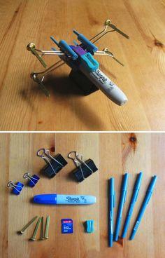 Direto de Guerra nas Estrelas para sua casa. O caça estelar X-wing não é feito de lixo, mas é barato e maneiro!