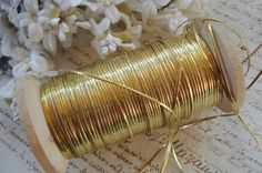 3y Antique French Flat Sparkly Gold Real by VintageCottageFinds