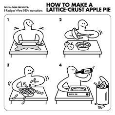 IKEA is known for its confusing assembly instructions—but would they fair better if they were to come up with a manual filled with. Apple Pie Recipes, Cookbook Recipes, Starbucks, Booklet Design, Instructional Design, Cooking Instructions, Thanksgiving Recipes, Thanksgiving Holiday, Creative Logo