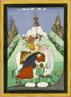 Shiva, his wife Parvati, and their sons Ganesha and Skanda. Place of Origin: India, Himachal Pradesh state, former kingdom of Kulu. Date: 1800-1900