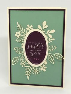 My number 1 top selling NEW CATALOGUE PRODUCT from Stampin'Up Australia? Making Greeting Cards, Greeting Cards Handmade, Color Card, Beautiful Handmade Cards, Birthday Cards For Her, Laser Cut Paper, New Catalogue, Stampin Up Catalog, Die Cut Cards