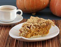 Streusel topping: Combine brown sugar and flour; cut in the butter until crumbly. Stir in chopped pecans. Also info on making pumpkin pie.
