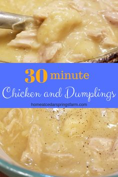 This Easy Chicken and Dumplings recipe is pure southern comfort food. Made with chicken, broth, and canned biscuits. You can have dinner cooked and on the table in 30 minutes. chicken and dumplings with biscuits Chicken and Dumplings Easy Chicken And Dumplins, Biscuit Chicken And Dumplings, Homemade Chicken And Dumplings, Chicken And Biscuits, Homemade Biscuits, Instapot Chicken And Dumplings, Recipes With Chicken Broth, Southern Comfort, Chicken Recipes