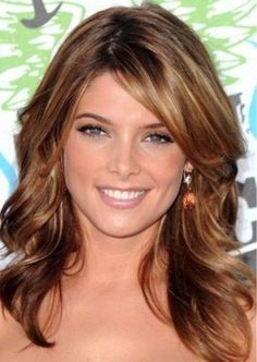 Best Layered Hairstyles With Bangs - Teenage Open Curls And Side Swept Bangs