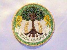 Für die wahre Umweltschützer ist dieser Patch Tree Hugger aus recycelten-Köper gemacht. Dieser Patch ist voll auf Eisen mit kein Nähen erforderlich.