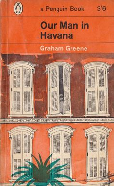 Paul Hogarth's book-cover illustration for Graham Greene's, Our Man in Havana (1965)  Paul Hogarth (1917-2001) was a British born artist and illustrator, who started out between art school and driving a truck during the Spanish Civil War…  Then in the 1970s, Hogarth fulfilled a love and desire for traveling and journeyed 50,000 miles to more than 20 countries, in which Graham Greene described, like a detective after a criminal, in a deep quest for his inspiration…