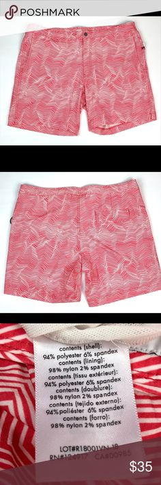 Onia Red Swimming Trunks Size 40 Men's NWT Onia Calder Trunks Size 40 Men's Color-Red/White Made of Polyester and Spandex Pattern-Optic Lines Top it waist to bottom of pant leg Onia Swim Swim Trunks Red Swim Trunks, Swim Swim, Color Red, Red And White, Swimming, Man Shop, Spandex, Best Deals, Pattern