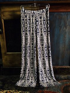 Printed palazzo pants in store now!