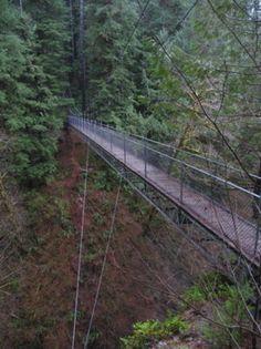 Drift Creek Falls Suspension Bridge (OR) http://www.oregonhikers.org/field_guide/Drift_Creek_Falls_Suspension_Bridge