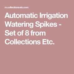 Automatic Irrigation Watering Spikes - Set of 8 from Collections Etc.
