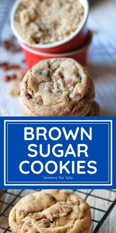 Thin and chewy brown sugar cookies! Each cookie has a generous amount of cinnamon taste and loads of cinnamon chips! Brown Sugar Cookies, Cinnamon Cookies, Cinnamon Chips, Yummy Snacks, Yummy Food, Cookie Recipes, Dessert Recipes, Easy Meals For Kids, Cooking Light