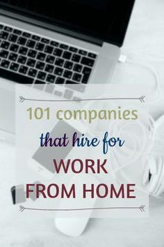 HUGE list of companies that hire for work from home