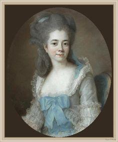 The Athenaeum - Madame Sanlot (Élisabeth Vigée-Lebrun - ) 1776 [Hooded polonaise or similar garment, not Brunswick]
