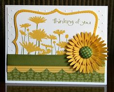 Upsy Daisy stampset used with the Top Note die
