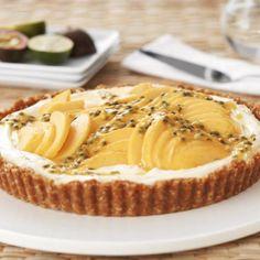 Lime Mascarpone and Mango Tart