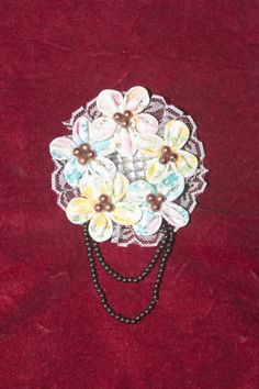Brooch Handmade 1st time with acrylic