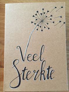 Funeral Cards, Dandelion Wish, Diy Cards, Handmade Cards, Brush Lettering, Sympathy Cards, Brush Pen, Easy Drawings, Zentangle