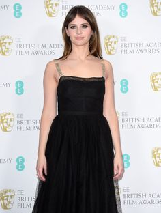 Felicity Jones in Dior at 2017 BAFTA Awards in London Check more at http://fashnberry.com/2017/02/felicity-jones-in-dior-at-2017-bafta-awards-in-london/