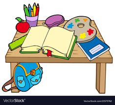 Illustration about School table 2 on white background - vector illustration. Illustration of drawing, color, education - 10438571 Aa School, First Day Of School, Primary School, School Tables, School Clipart, Classroom Posters, Art Clipart, Teaching Kindergarten, School Supplies