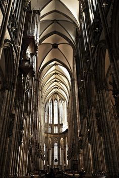 Cologne Cathedral (Kölner Don German - officially Hohe Domkirche St. Peter und Maria), neo-Gothic style, begun in 1248 and not completed until 1880,