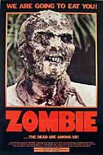 Lucio Fulci's Zombie, first zombie movie where there happens to be a zombie underwater that eats a shark. Bitchin...