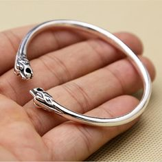 Solid Silver 925 Twin-tiger Narrow Band Cuff Bangle Bracelet Men Women 100% 925 Sterling Silver Jewelry Simple Style Gifts