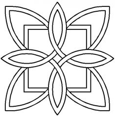 Quilt Stencil Celtic Floral Design By Siedlecki, Barbara Quilting Stencils, Quilting Templates, Quilting Designs, Stencil Templates, Free Motion Quilting, Hand Quilting, Machine Quilting, Celtic Quilt, Celtic Symbols