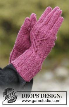 Перчатки малина
