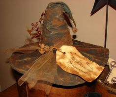 Pieced Pastimes: Primitive Witch Hat