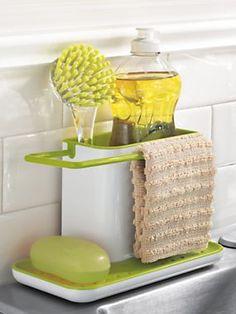 Kitchen Sink Organizer Ideas this easy, diy cake stand kitchen sink organizer is a unique way